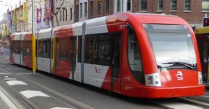 tram from front