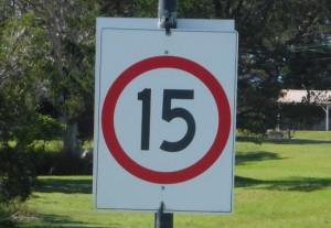 15kph sign