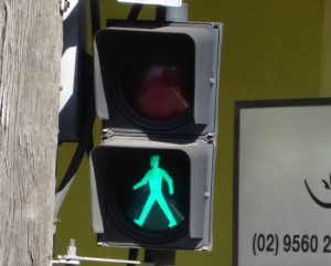 green-walking-man