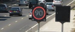 motorway 90 sign
