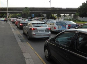 queuing traffic sydney