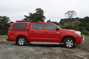 Whereas this 2011 Toyota Hilux has plenty of road and engine noise