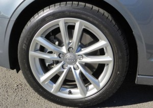 Audi A3's wheels a slightly softer with the higher sidewalls