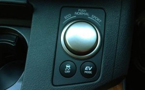 electric vehicle and drive modes in a lexus es350