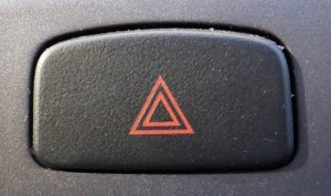 hazard warning lights button