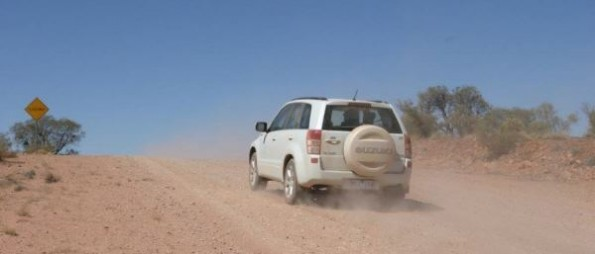 This is me driving a press Suzuki Vitara through the outback, often at high speed. There were over 40 journalists on this trip and we put the cars through their paces. These vehicles would have been sold to the general public.