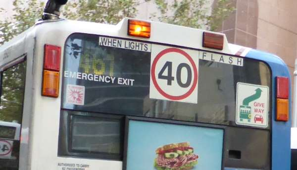 bus back 40 sign cropped