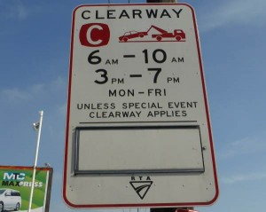 clearway 6am-10am 3pm-7pm