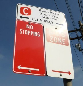 clearway bus zone
