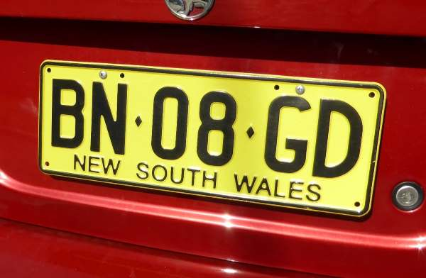 NSW licence plate