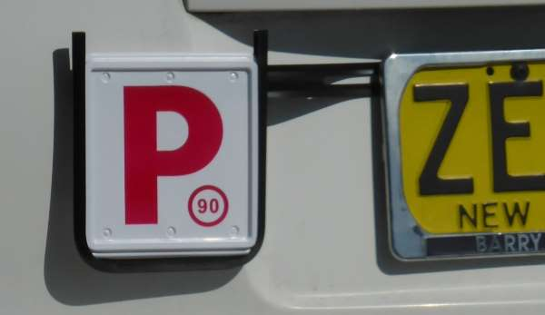 Australian P1 plate on NSW car