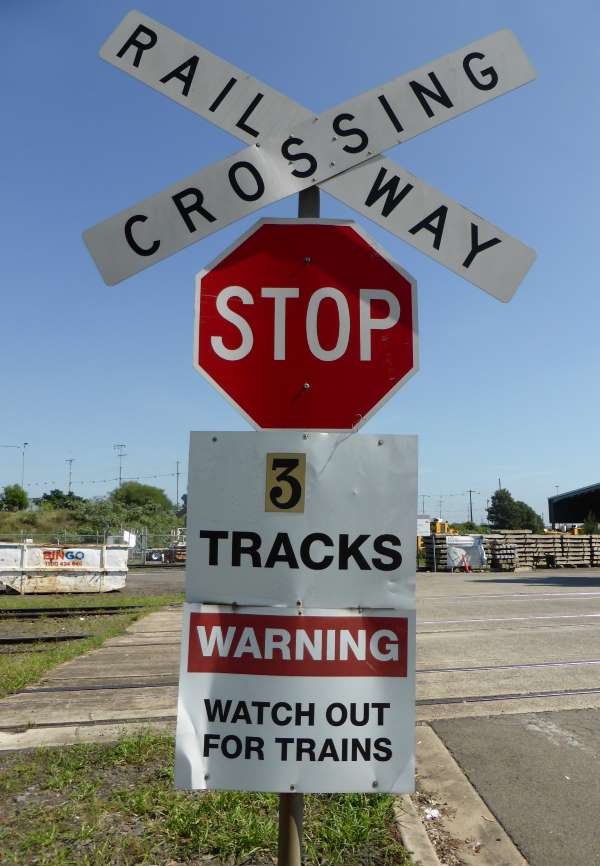 railway level crossing sign