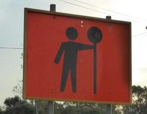 workmen ahead