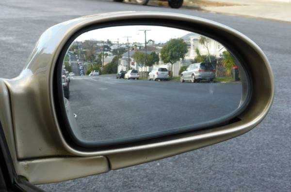 wing mirror just right