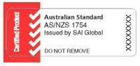 australian standard as nzs 1754 car seat sticker