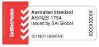 australian standard as nzs 1754 car seat sticker