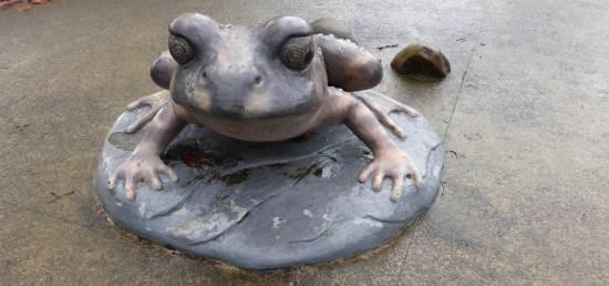 sculpture frog
