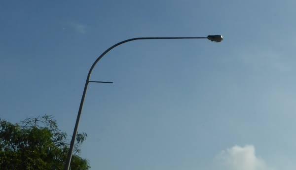 street light silhouette