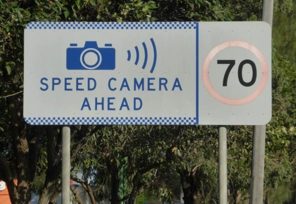 speed camera 70 sign