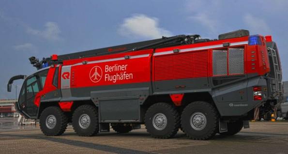 Airfield fire truck