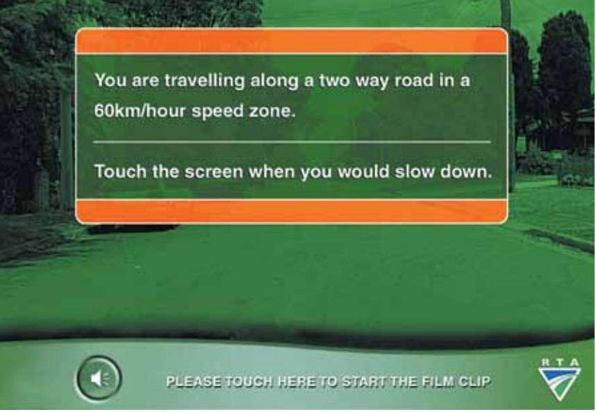 hazard perception test screen