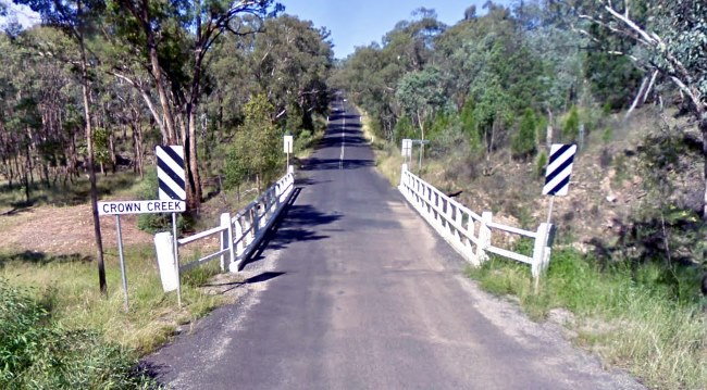 Single lane bridge on NSW rural road