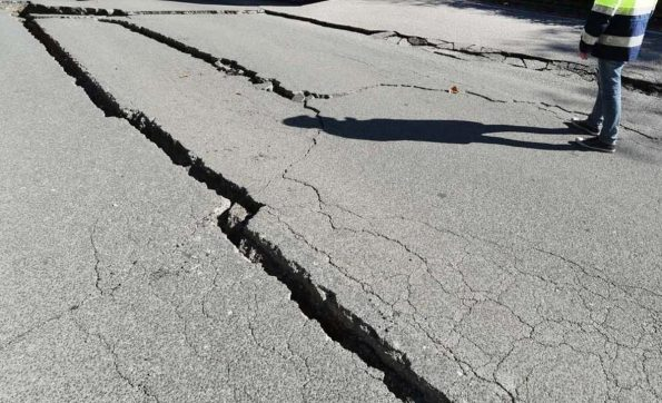 Large cracks can open up in tarmac roads which could damage your vehicle